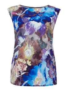 Pied a Terre Lulu printed shell top