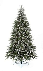 6ft pre lit flocked whistler tree