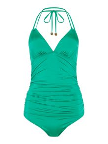 Rouched Double Strap Swimsuit