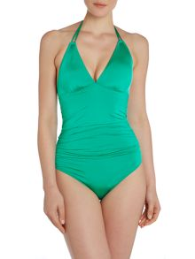 Biba Rouched Double Strap Swimsuit