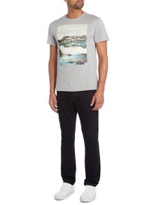 Criminal Nor Cal Graphic Print Crew Neck Slim Fit T-Shirt