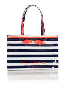 Bettia multi-coloured tote bag with flip flop