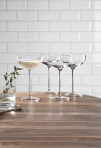 Gray & Willow Ren Champagne Saucer Set Of 4