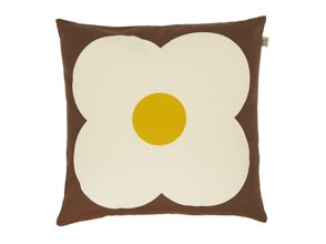 Orla Kiely Giant Abacus Chocolate / Sunflower cushion