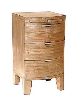Lyon light 3 drawer bedside chest