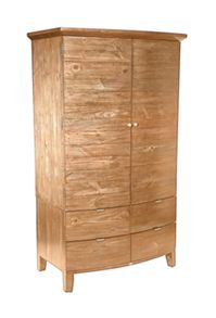 Lyon light double wardrobe with drawers