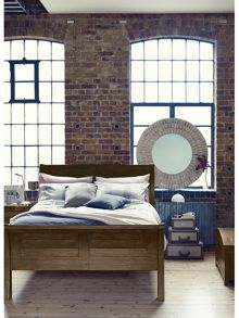 Linea Lyon light double bedstead