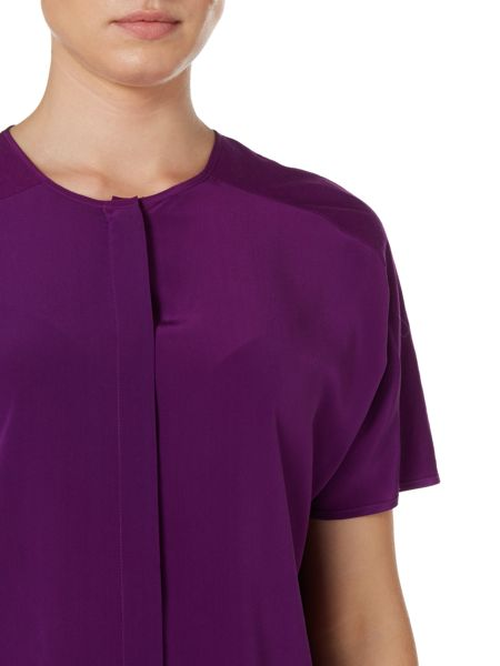Sportmax Code Fatuo silk short sleeve top