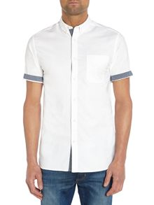 Slim Fit Button Down Short Sleeve Shirt