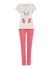 Kittens In Mittens Jersey PJ Set