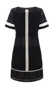 Karen Millen Relaxed broderie tshirt dress