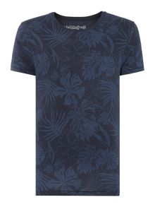 Leaf Print Regular Fit T-Shirt