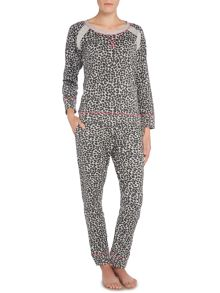 Therapy Leopard Print Loopback Set