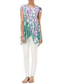 Phase Eight Violet floral longline top