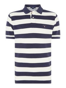 Stripe Regular Fit Rugger Polo Shirt