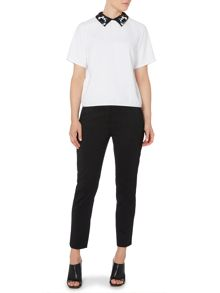 Duilia slim leg cropped trousers