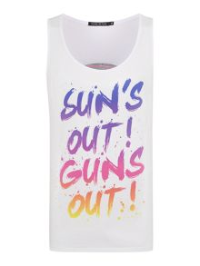 Suns Out Regular Fit Graphic Vest