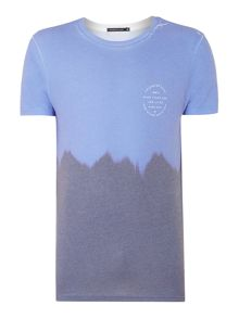 Friend or Faux Pacific Regular Fit Dip-Dye Graphic T-Shirt