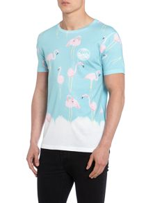 Flamingo Regular Fit Graphic T-Shirt