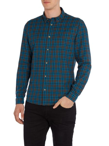 Duck and Cover Timmins long sleeve check shirt