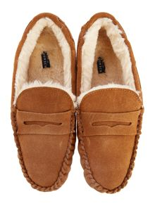 Howick Chestnut Moccasin Slipper