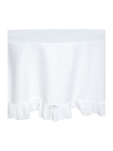 Shabby Chic Ruffle Round Tablecloth