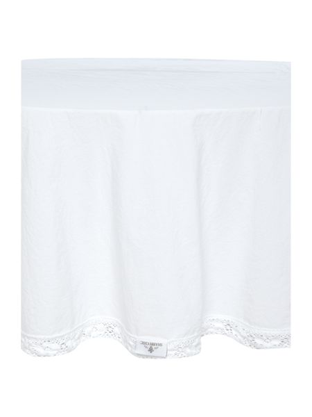 Shabby Chic Lace Trim Round Tablecloth
