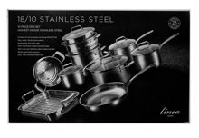 10 Piece Stainless Steel Pan Set