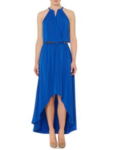 Michael Kors Sleeveless high low chain dress