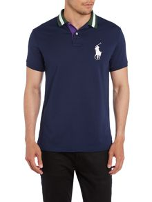 Wimbledon Plain Custom Fit Tech Pique Polo Shirt