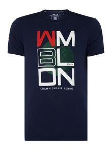Polo Ralph Lauren Rlx Wimbledon Print Crew Neck Custom Fit T-Shirt