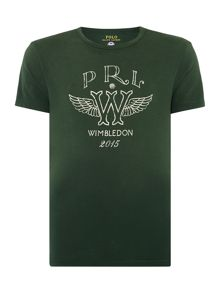 Wimbledon Print Crew Neck Custom Fit T-Shirt