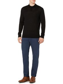 100% Merino Mini Shawl Neck Jumper