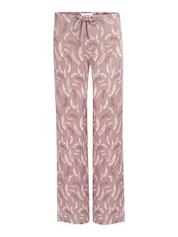 Falling Feather Jersey Print Trouser