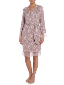 Falling Feather Jersey Print Robe