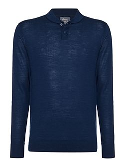 Men's Linea 100% Merino Mini Shawl Neck Jumper