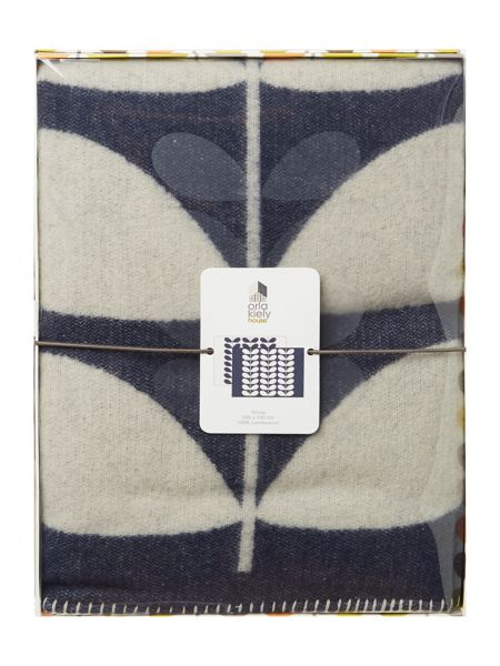 Orla Kiely Giant stem throw navy