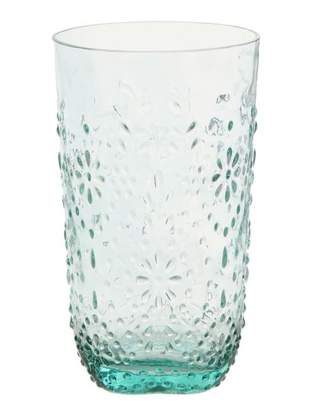 Dickins & Jones Embossed floral tumbler