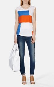 Colourblock jersey vest