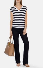 Karen Millen Interesting placed strip vest
