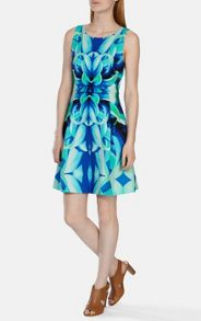 Mirrored oversize floral dress