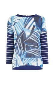 Karen Millen Scarf print on sheer knit jumper