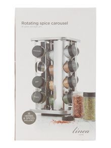 Stainless steel filled 16pc square spice rack