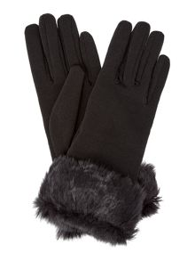 Solid Fur Cuff Thermal Glove