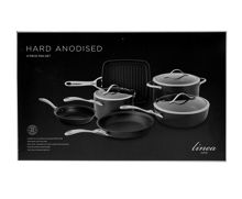 Linea Hard Anodised 6 piece pan set