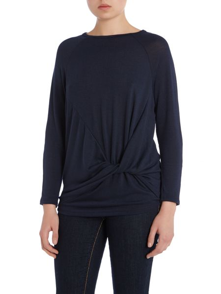 Wal-G Long Sleeved Knot Front Knit