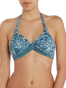 Mystic Cooley Twist Front Halter Bikini