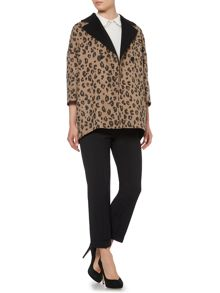Reversible leopard coat