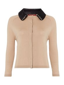 Max Mara Derrik detachable collar cardi