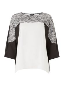 Oversized abstract print top